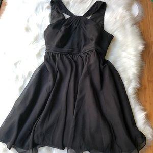 Crinkle Chiffon Halter Dress